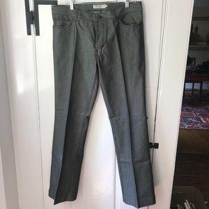 Yves Saint Laurent men's pants black checkered